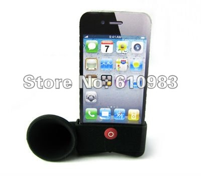 Free shipping(5 pieces/lot) Horn Stand Amplifier,for iphone 4, loudSpeaker,4G No external power + Environmental Protection