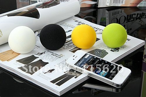 Audio Dock / Mini Stereo Ball Speaker Built-in Rechargeable Battery Suitable for All Devices with 3.5mm Audio Jack
