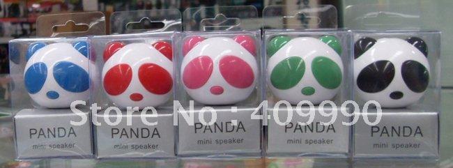 Free Shipping,200pcs/lot MYKIND original speaker,USB good sound quality goods panda mini speakers,MP3,MP4 little speakers