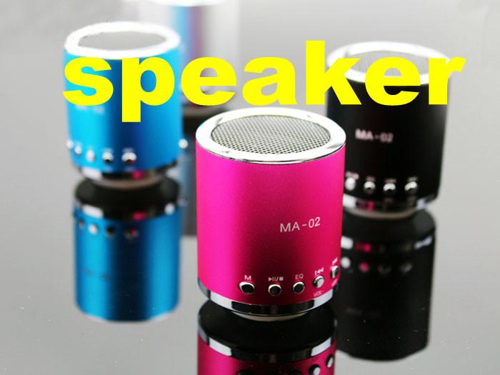 20pcs/lot  MA-02 Mini speaker ,portable speaker,support Micro TF Card mini type  free shipping DHL