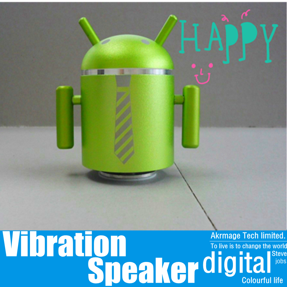 10 a package robot vibration speaker Support TF/SD/U disk/MP3 fotmat/ FM radio best for mp3 mp4 laptop mobile phone pc etc