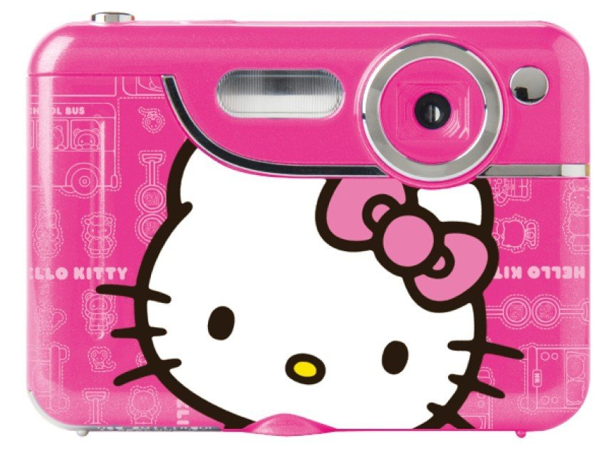 (DV3CD)Free Shipping, Free Camera Bag Gift +7.1 MP Hello Kitty digital camera+1.8''screen+best Christmas Gift +Nice Kitty color.