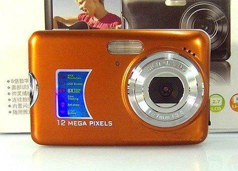 "Free shipping Hot selling Digital Camera 12MP,5.0 CMOS Sensor,2.7""LCD,8X Digital Zoom,Anti-Shake,(DC-500FE)"