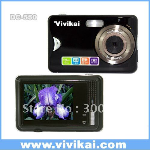 Free shipping for STOCK cheap 12MP  Digital photo camera  with  2.7 inch TFT LCD screen and 8X digital zoom