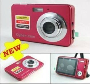 NEW 2.7 inch 12.0 MP cheap digital camera digital zoom 4X ANTI SHAKE Red In Original Box+Free shipping