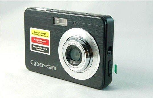 NEW 2.7 inch 12.0 MP cheap digital camera digital zoom 4X ANTI SHAKE In Original Box+Free shipping