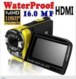 High quality 16MP waterproof 1080P Full HD digital video camcorder