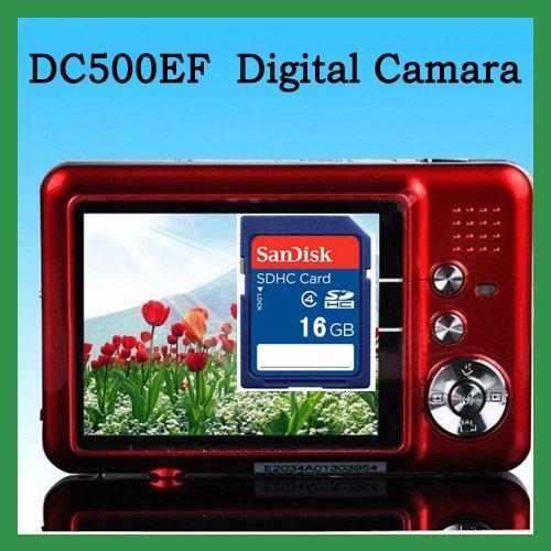 "Free Shipping! Winait DC500FE Max.12.0 MP/ 2.7""TFT digital camera with 8X digital DV Camera mini Camcorder+16G SD Card"