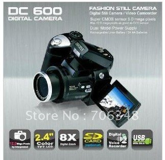 DC600 2.4 inch TFT LCD Digital Camera 12MP 8X digital Zoom