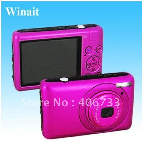 "2012 New Arrival 2.7 "" TFT 14.1 MP 8X digital zoom Anti Shake black Digital Camera &Free Shipping"