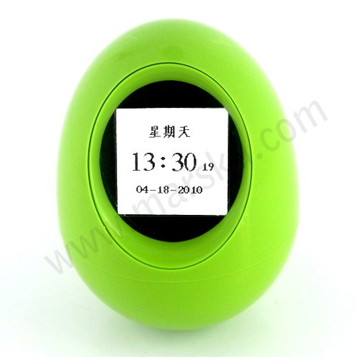 """Novelty High Quality 1.5"""" LCD Cyan-blue Egg Digital Photo Frame Picture Album S650"""