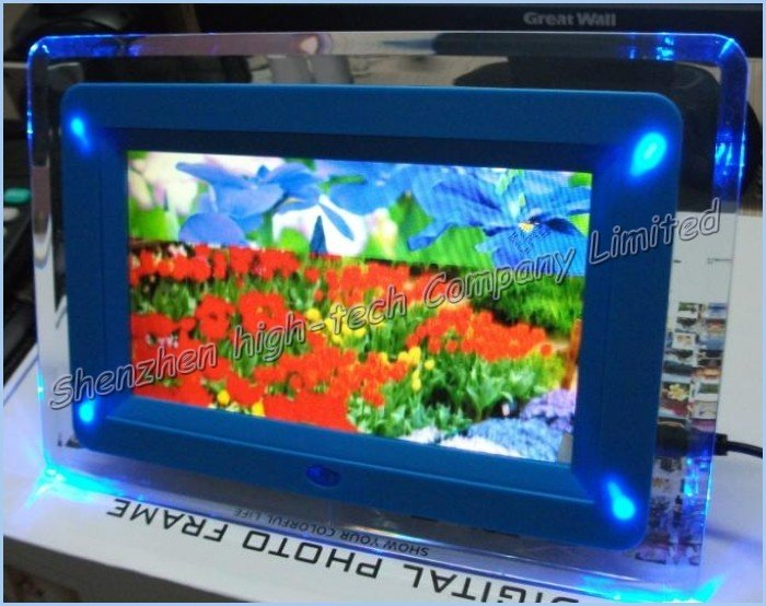Free shipping,MP3 Music Video play 7inch multifunction digital photo frame