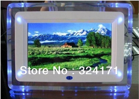 2pc free shipping 7 inch digital photo frame with multi-functions with 4 led light
