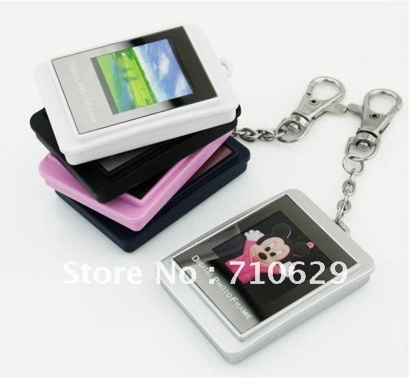 Free shipping Wholesale 1.5 inch LCD Mini Digital Photo/Picture Frame with Keychain 16MB 5pcs/lot