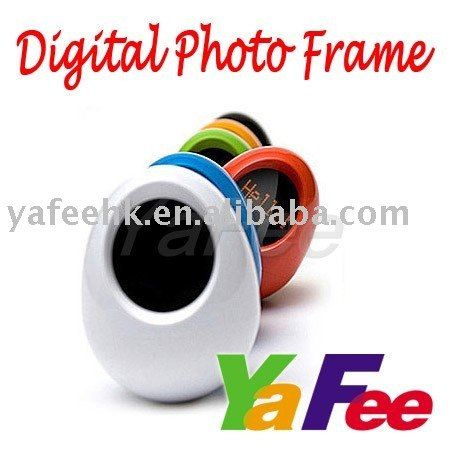 New Wholesael Free Shipping Colorful Mini Egg Toys Photo Frame 1.5 inch Tumbler Digital Photo Frame 3C-175