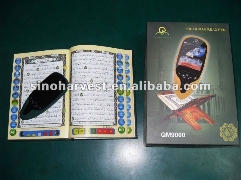 QM9000 the best lcd screen quran reading pen, free shipping