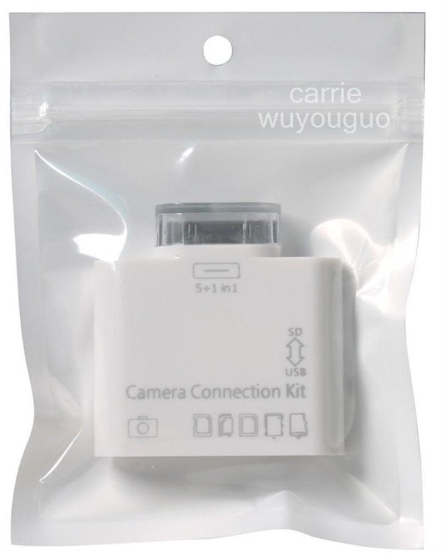 10 pcs / lot  usb 5-in-1 Camera Connection Kit SD Card Reader For iPad iPad2 IPAD3 #3