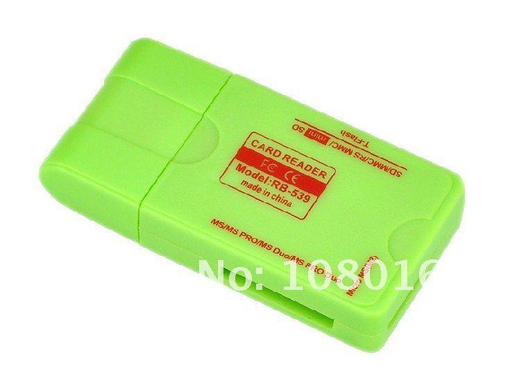 Free shipping USB 2.0 MEMORY CARD READER TF /MICRO SD card reader