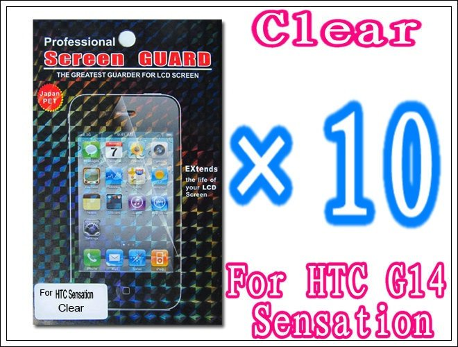 10pcs/lot+Clear Screen Protector Film For HTC Sensation G14,With Retail Package
