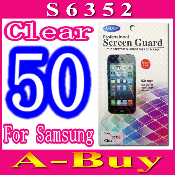 Clear Screen Protection For Samsung Galaxy Ace Dear S6352,With Retail Package,50pcs/lot