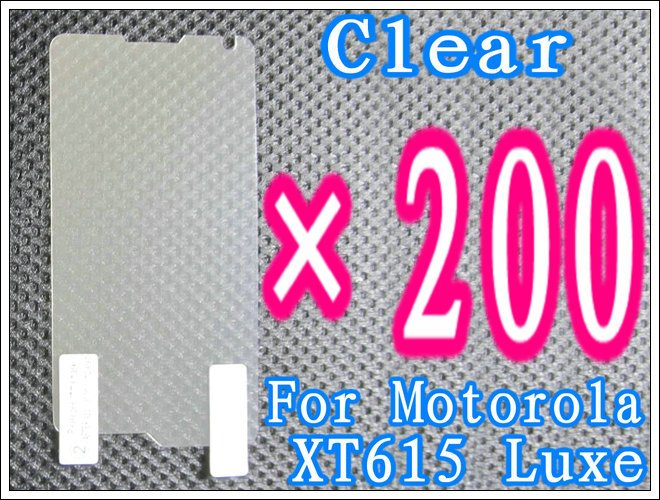 200pcs/lot+Clear Screen Guard For Motorola XT615 Luxe,No Retail Package DHL/EMS Free Shipping