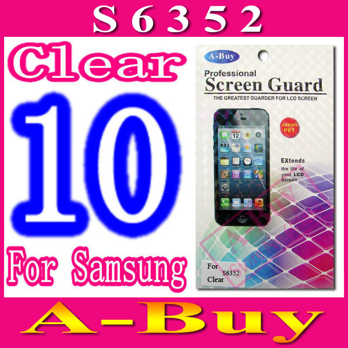 Clear Screen Protector Film For Samsung Galaxy Ace Dear S6352,With Retail Package,10pcs/lot