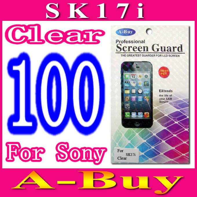 Clear Screen Protector Film For Sony Ericsson Xperia mini pro SK17i,With Retail Package,100pcs/lot
