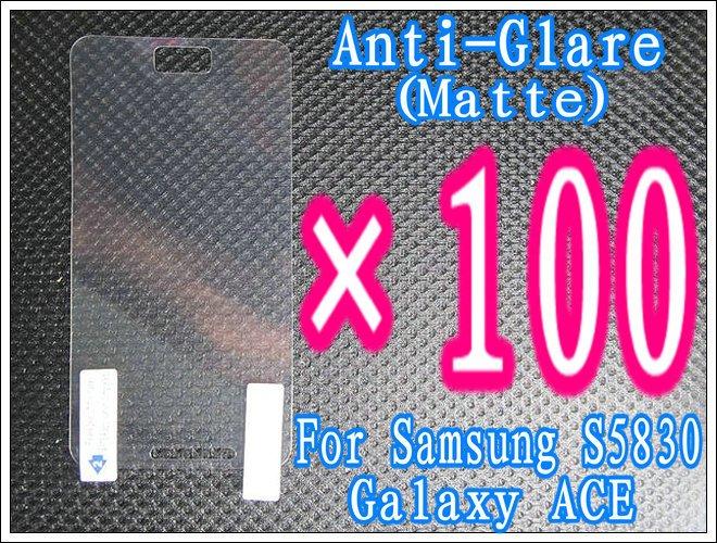 100pcs+Matte Anti-Glare Anti Glare Screen Guard Film For Samsung Galaxy Ace S5830,No Retail Package