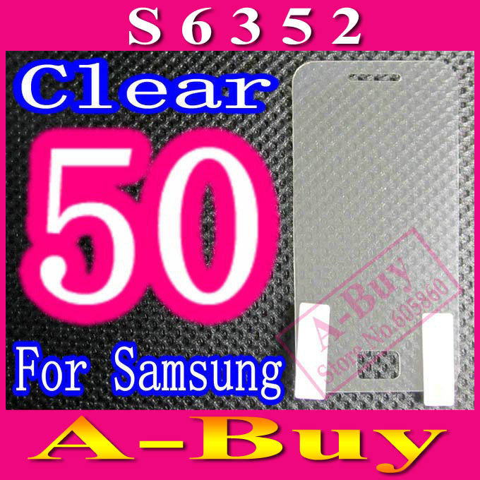 Clear Screen Protector Film For Samsung Galaxy Ace Dear S6352,No Retail Package,50pcs/lot