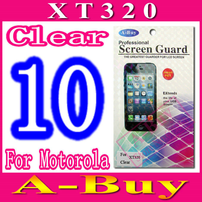 Clear Screen Protective Film For Motorola Defy Mini XT320,With Retail Package+10pcs/lot