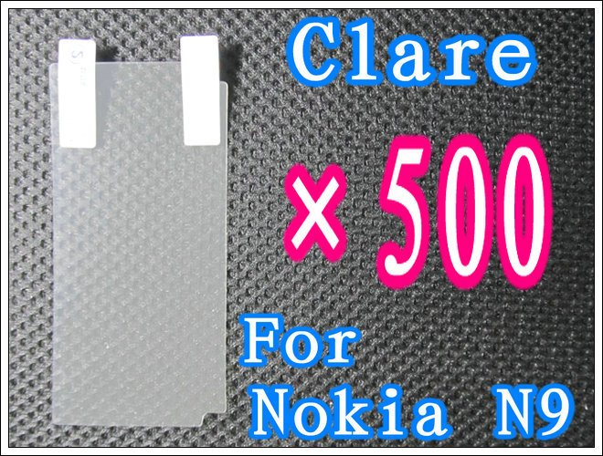 500pcs/lot+Clear Screen Protection For Nokia N9,No Retail Package DHL/EMS Free Shipping