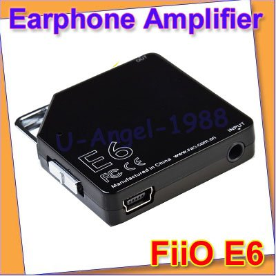 Free shipping!! 3pcs/lot Original NEW FIIO E6 DEAL DRIVER PROTABLE EARPHONE AMPLIFIER D