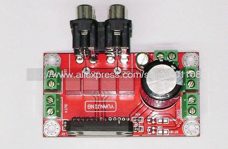 Freeshipping F195# DIY Amplifier Board TDA7850 four-channel Car Audio Amplifier Board 50W*4 hi-fi Amplifier AV interface