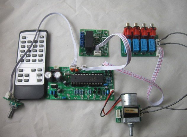 Assemble Remote Volume Control Preamp board  with Standby board