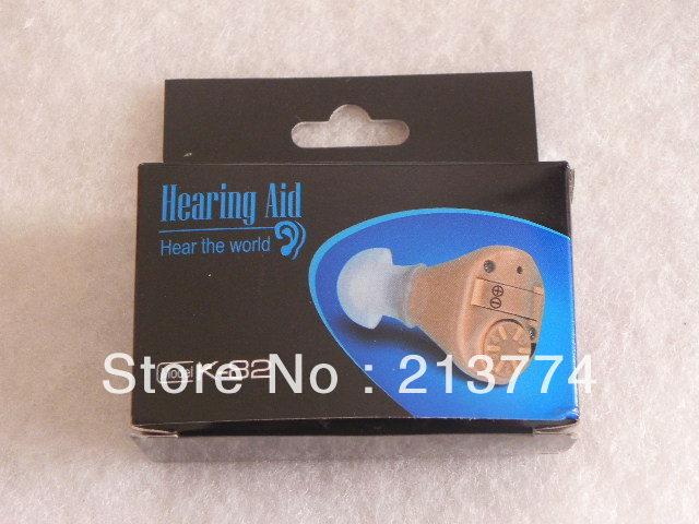 K-82 new high quality cozy mini convenient pocket Hearing Aid portable Sound Amplifier  three soft ear plug Free Shipping