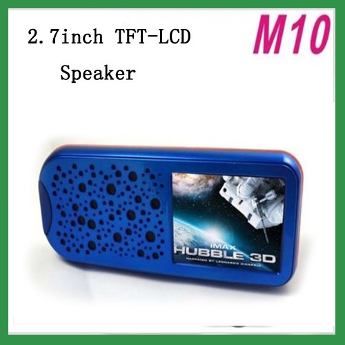 Free Shipping New M10 2.7inch TFT-LCD speaker music player for MP3,MP4 mini speakers  blue
