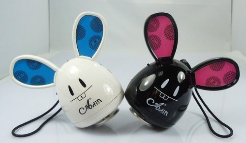 Free Shipping!!Brand ADIN 5W Vibration Rechargeable Mini Speaker TF card MP3 Player FM Radio