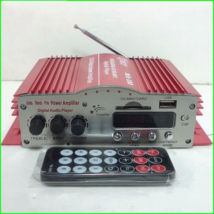Digital Stereo Power Amplifier+USB/FM/SD Player With Remote Kinter MA100