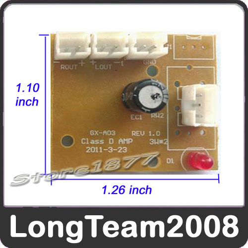 New mini Digital Amplifier USB 5V input / 3W*2 power S876