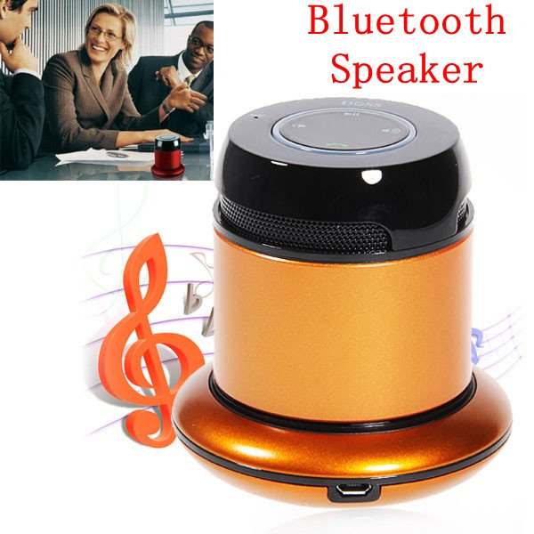 Wholesale!High Quality New DOSS DS-1168 Bluetooth 2.1 Metal Speaker & Portable Power Adapter  Free Shipping With Tracking Number