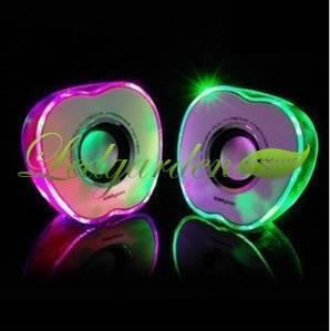 Apple Style Shining LED Mini Sound box speaker for Cellphone PSP Tablet Computer