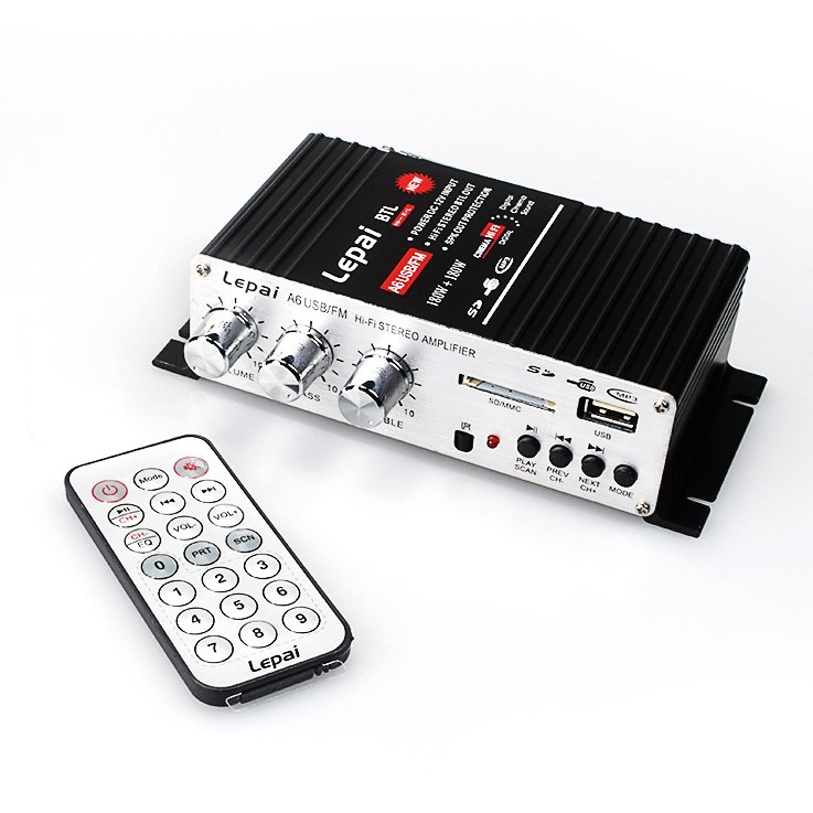 Freeshipping F273# LP-A6 USB & FM Amp Car Amplifier With Remote Control