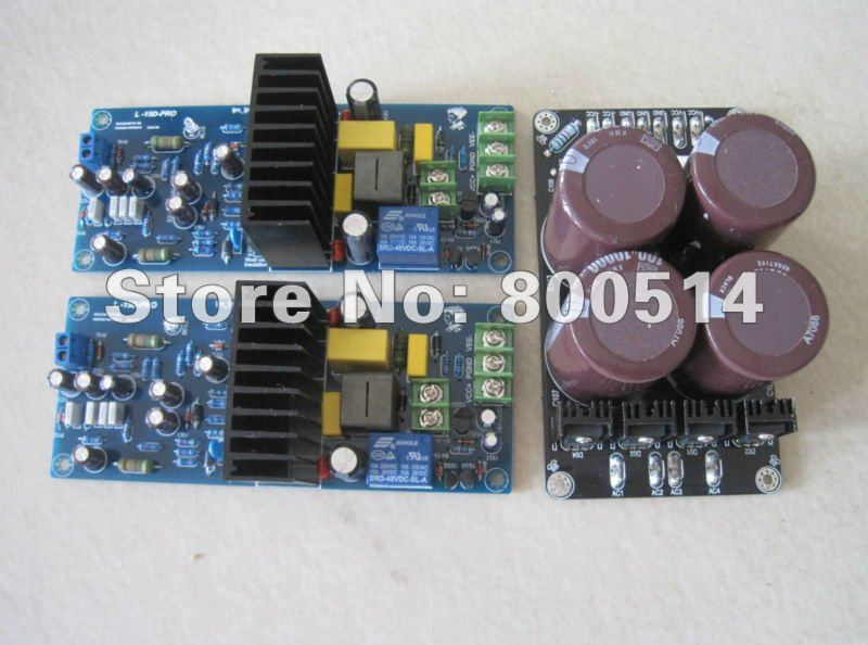 Assembled LJM- L15D  Pro Stero Power amplifier board (2 channel) + PSU board