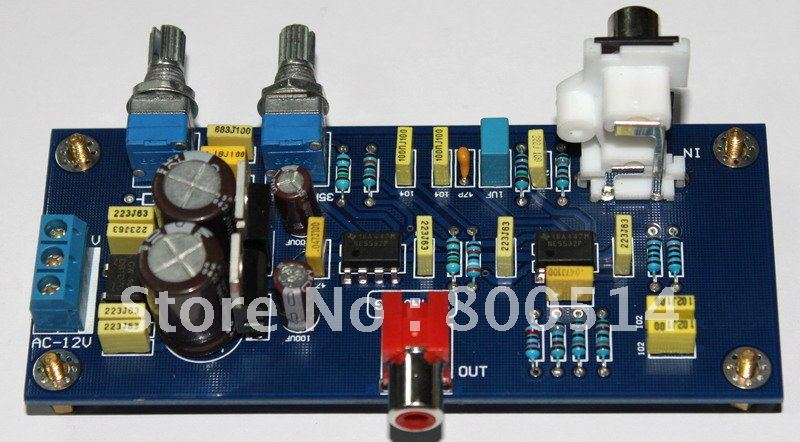 Assembled NE5532 Low-pass tones board / bass filter board 35-150Hz adjustable