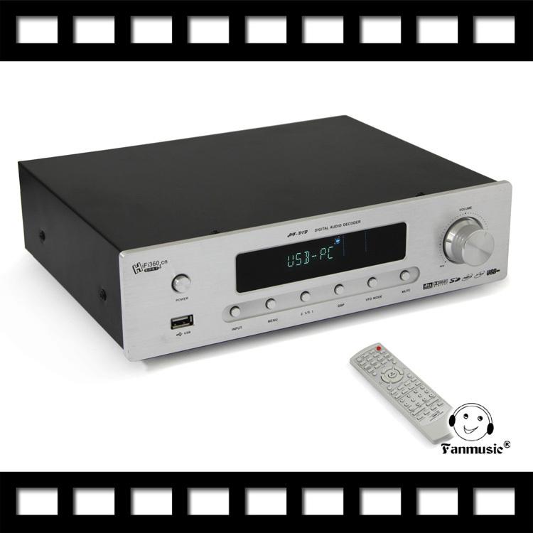 Fanmusic HF-D1B AC3 DTS 5.1 DIGIT DAC & USB & Read Memo decoder