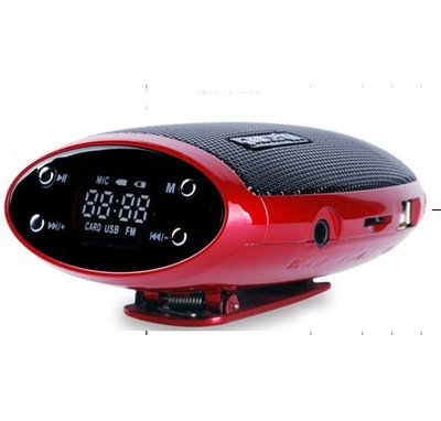 Free Shipping!!Brand Portable Mini TF Card MP3 Player+FM+3D Stereo Speaker Rechargeable Battery