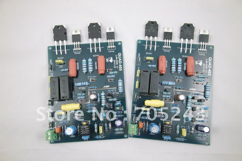 2pcs stereo QUAD405 clone amplifier ,assembled & tested