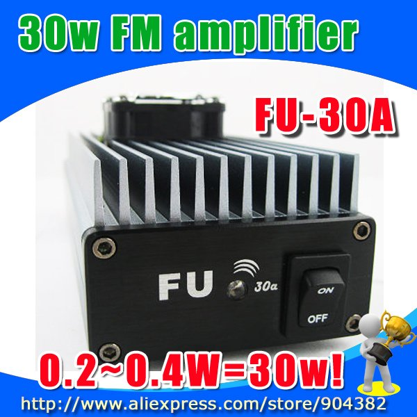 venta al por mayor envio 30W profesional FM transmisor amplificador de 85 ~ 110MHz fmuser FU-30A