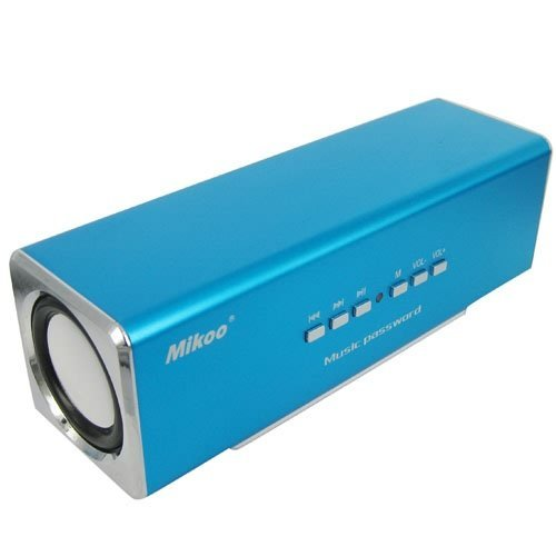 SD Socket Blue Portable Mobile Audio Speaker Support USB Free Shipping