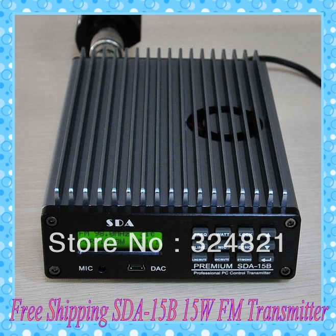 New Arrival!! Free Shipping SDA-15B 15W FM Transmitter  87~108MHz adjustable